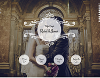 Wedding site psd design