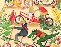 In the traffic jungle use the bike