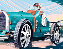 Bugatti Type-51 | Illustration