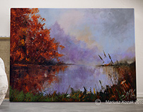 Autumn Morning oil on canvas