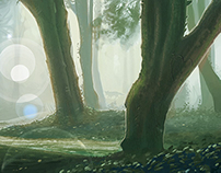 Wall Mural: Mysterious Forest