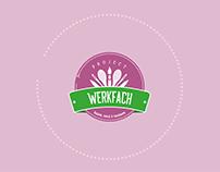 logo design for werkfach // retro