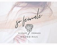 So Female Branding Kit + Icons & Watercolours