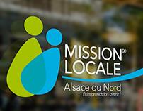 Conception charte graphique Mission Locale Alsace Nord