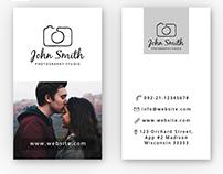 Muhammad faisal jawaid on behance freebie simple photographer business card psd template reheart Gallery