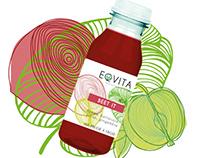 Création étiquette smoothie Eqvita de Novak Djokovic