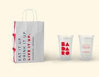 Badaro - Mediterranean fast casual restaurant branding