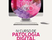 """Cartel """"IV Curso de Patología Digital"""" fundación FISABO"""