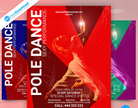 Pole Dance Flyer PSD Template