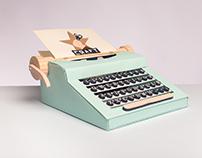 Papper Craft Typing Machine