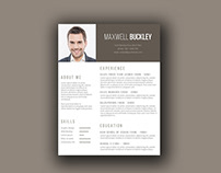 Free Unique Resume Template with Modern Design