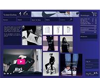 school: opmaak website random brand.