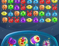 Экран и элементы для игры Match 3
