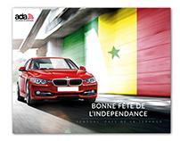 Ada Location de voiture, Indépendance Sénégal.