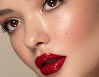 Beauty retouch (Red lips)