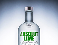 Absolute Vodka - product photography.