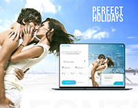 Perfect holidays travel Website Design