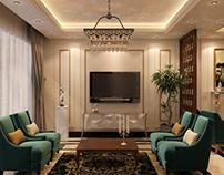 Apartment's reception design