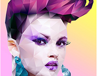 Polygonal / Low poly art [gradient]