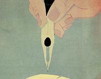 The pleasure to dive into writing (editorial illustr.)