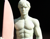 Sculpture for Hollister Perfume Lid