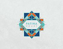 Patina Court Logo Design