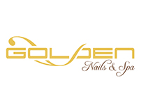 Golden Nails & Spa Logo, Business Card, Poster