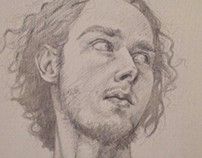 Self Portrait in silverpoint