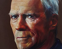 Clint Eastwood Portrait Painting