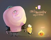 Corn & Marshmallow going to an adventure!