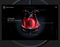 Vision Mercedes Maybach 6. Website design
