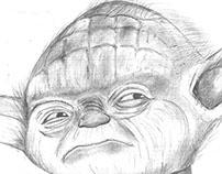 Mestre Yoda a lápis