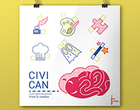 Poster proposal for Civican cultural center contest