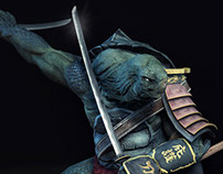 Samurai Turtle by Arthur Duque