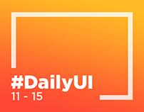 DailyUI 11-15