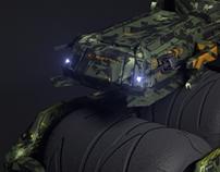 CGI: praying mantis military vehicle