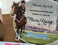 Convite infantil Flávia Kaiser