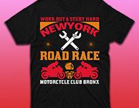 Road Race Motorcycle T-shirt Design