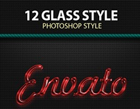 12 Glasses Styles Text Effect
