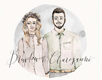Clarozanne & Brendon - Custom Portrait Illustration