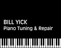 Bill Yick Piano Tuning & Repair Business Collateral