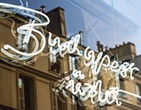 Budapest üzlet pop-up store identity