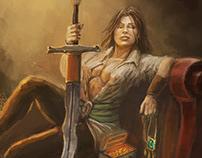 Rogue swordmaster portrait