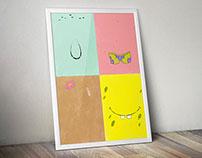 Poster minimalista / Bob esponja