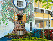Public art - Wall Painting. Colombia.