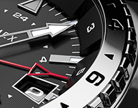 3D Modeling & Rendering of TIMEX 3GMT WATCH