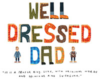Well Dressed Dad illustrations.