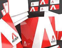 Acier Steel Fabricators Brand Identity