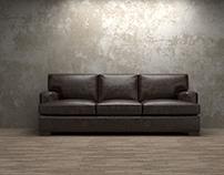 """Sawyer 88"""" Leather Sofa in Libby Espresso"""