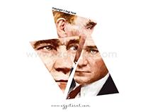 ©Mustafa Kemal Atatürk's Lowpoly Portrait Series I